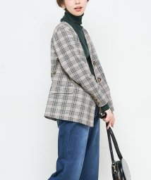 NICE CLAUP OUTLET/【natural couture】プリティッシュチェックジャケット/501372853