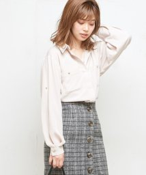 NICE CLAUP OUTLET/【natural couture】とろみ上品スキッパー/501372854