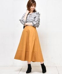 NICE CLAUP OUTLET/【natural couture】裾切替フレアスカート/501372855