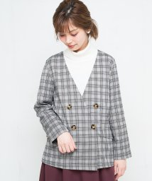 NICE CLAUP OUTLET/【every very nice claup】ブリティッシュチェックジャケット/501372857