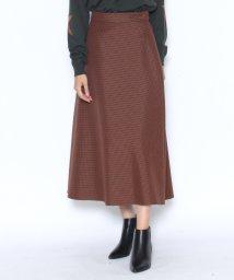 LASUD/【アーガ Aga】ガンクラブチェック テントライン フレアスカート/501372901