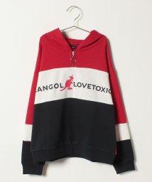 Lovetoxic/KANGOLコラボハーフジップ裏毛パーカー/501378912