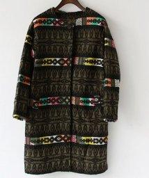 REAL CUBE/【Cu】ジャガード刺繍ノーカラージャケット/501382084