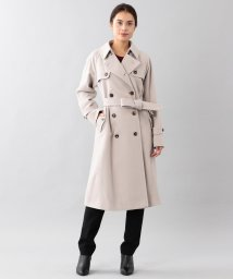 SANYO(WOMEN'S)/<Rain Wool>ウールカシミヤダブルトレンチコート/501383348