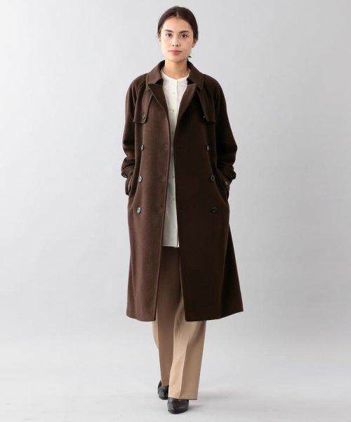 SANYO COAT(サンヨーコート)/<Rain Wool>ウールカシミヤダブルトレンチコート/T1B54834--