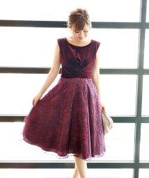 BLUEEAST/《結婚式 パーティー 二次会》ベロア×刺繍レーススパンコールドレス/501383737