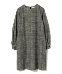 BEAMS OUTLET/Demi-Luxe BEAMS / クルーネック チェック ワンピース/501350831