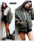 ANAP/ボアリバーシブルブルゾン/501372244