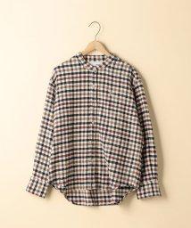coen/【2WAY】ウィンターコットンバンドカラーチェックシャツ/501383564