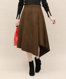 ROPE' mademoiselle/アシメヘムフェイクスエードスカート/501388580