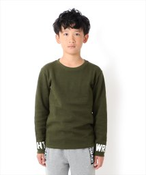 GLAZOS/袖口プリント厚手長袖Tシャツ[2色展開]/501389316