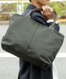Otias/オティアス Otias/トートバッグ ナイロン×ポリエステル混紡ツイル+ヌメ革 日本製/501374989