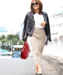 coca/やわらか太リブニットタイトスカート/501388027