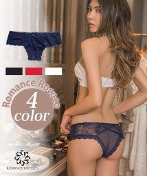 Romance Rococo/ロマンティッククロスショーツ ハーフバック 締め付けない 楽 痕 レーシー 透け感/501389538