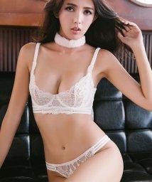 Romance Rococo/いい女 透け感 ノンパテッドブラセット 透け感 ノーカップ シースルーブラショーツ/501389566