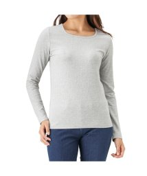 MAC HOUSE(women)/Navy リブロングTシャツ NVCW8004/501390649