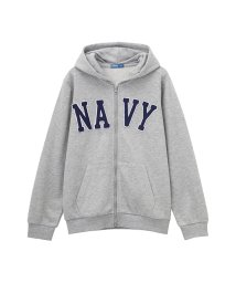 MAC HOUSE(kid's)/Navy フェルトロゴジップパーカ EJ185-KB062/501390708