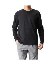 MAC HOUSE(men)/Navy オーガニックコットン 起毛ポケット付きロングTシャツ MH/03540FW/501390760