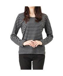MAC HOUSE(women)/Free Nature クルーボーダーロングTシャツ FN17AW006/501390861