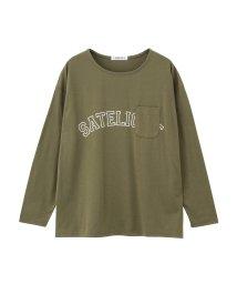MAC HOUSE(women)/T-GRAPHICS ポケット付ロゴプリント長袖Tシャツ EJ175-WC101/501390864