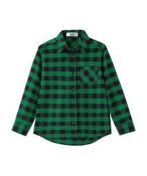 MAC HOUSE(kid's)/RUSH HOUR ボーイズガールズ フランネル先染めチェックシャツ MH677-603/501390935