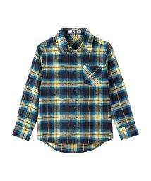 MAC HOUSE(kid's)/RUSH HOUR ボーイズガールズ フランネル先染めチェックシャツ MH677-603B/501390936
