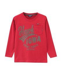 MAC HOUSE(kid's)/T-GRAPHICS ボーイズ ポケット付き切替ロングTシャツ MH/TG478B/501390946