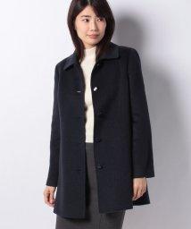 Leilian/【深喜毛織】カシミヤ混ステンカラーコート/501355279