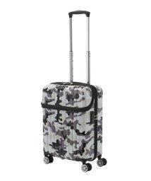 Travel Selection/スーツケース トップオープン トップス S 迷彩 機内持ち込み対応サイズ/501365891