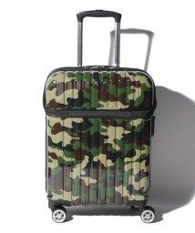 Travel Selection/スーツケース トップオープン トップス S 迷彩 機内持ち込み対応サイズ/501365893