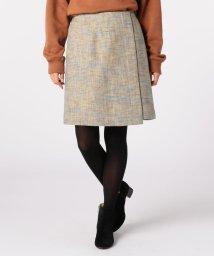 FREDY REPIT/カラーツィードラップ風スカート/501380655