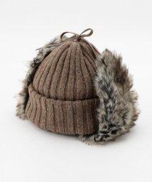 GLOSTER/【Nine Tailor】ファー付きリバーシブルニット帽/501380737