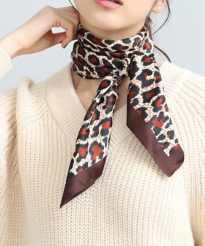 ViS レオパード柄スカーフ