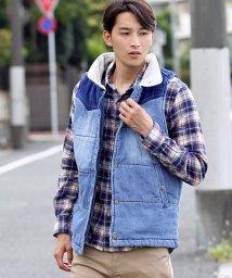 TopIsm/コーデュロイ切替中綿入りベスト/501388574