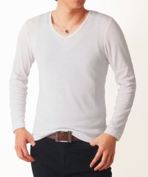 TopIsm/7分袖&長袖タイトスリムストレッチ無地Tシャツ/501388655