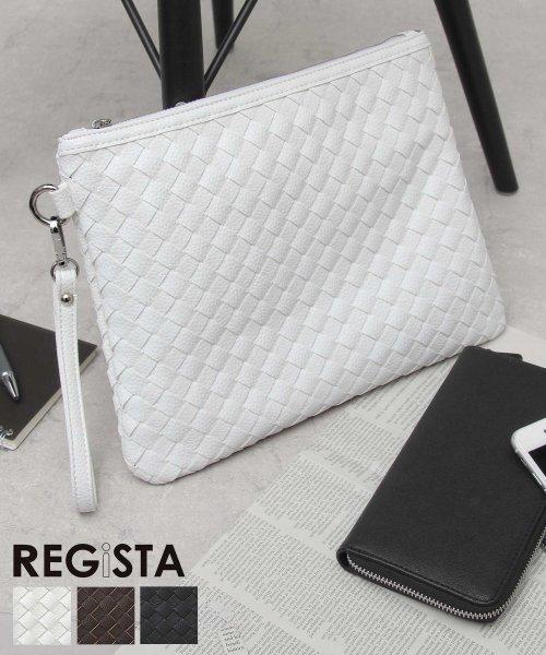 REGiSTA(レジスタ)/イントレチャートPUレザークラッチバッグ/522