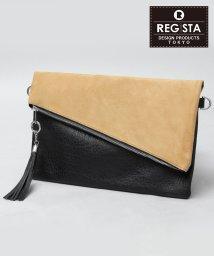 REGiSTA/【ベストセラー】タッセル付スエードスムースコンビクラッチバッグ/501391011