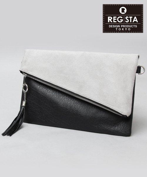 REGiSTA(レジスタ)/【ベストセラー】タッセル付スエードスムースコンビクラッチバッグ/528