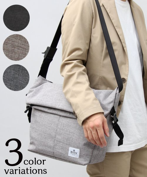 REGiSTA(レジスタ)/口折れPVCナイロンメッセンジャーバッグ/555
