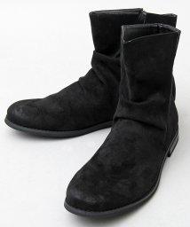 glabella/ドレープブーツ/ミドル丈サイドジップブーツ/501391154