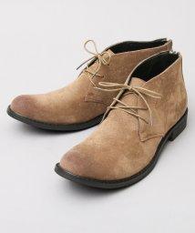 glabella/ロングノーズバックジップショートブーツ/501391155