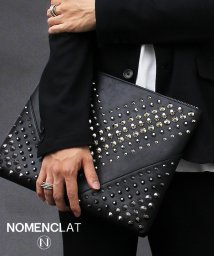 NOMENCLAT/グラデーションスタッズクラッチバッグ/501391238