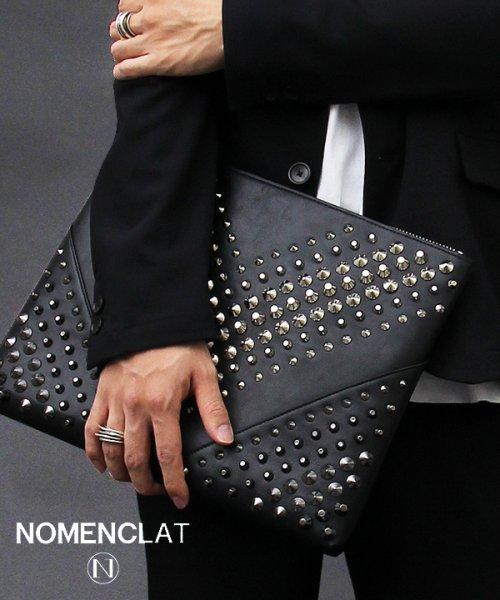 NOMENCLAT(ノーメンクラート)/グラデーションスタッズクラッチバッグ/NCBG-1013