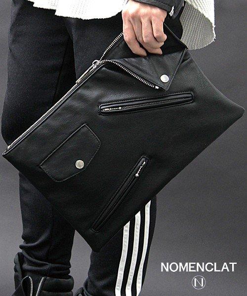 NOMENCLAT(ノーメンクラート)/ライダースデザイントートバッグ/NCBG-1015