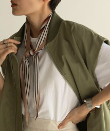 marjour/BI-COLOR STRIPE SCARF/501391945