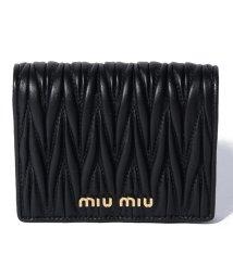 MIUMIU/MATELASSE/2つ折りミニ財布【NERO】/501395157