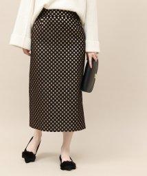 ROPE' mademoiselle/ドットジャガードタイトスカート/501395291
