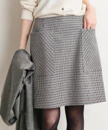 IENA/《追加》チェック台形スカート◆/501395853