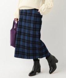 SLOBE IENA/フロッキーチェック デニムタイトスカート/501395921