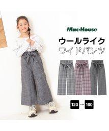 MAC HOUSE(kid's)/RUSH HOUR ガールズ ウールライク起毛ワイドパンツ MH687-012/501396787